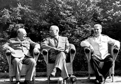 Churchill, Truman, Stalin | Quelle: Bundesarchiv
