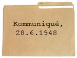 PDF Download: Kommuniqué, 28.6.1948 Bild: vusta/iStockphoto